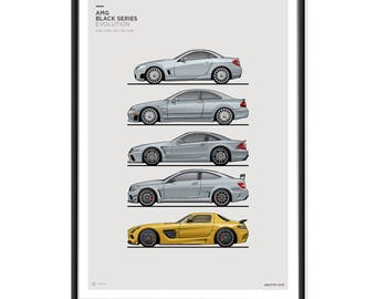 Mercedes AMG Black Series Generations Poster