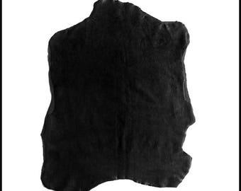A735-P / / skin STHRETCH Anthracite black NUBUCK leather