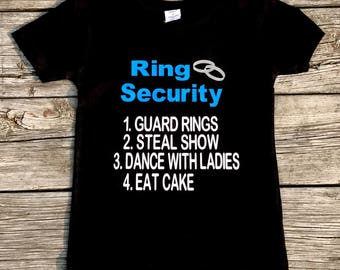 Ring Security T-Shirt | Ring Bearer | Ring Bearer shirt | Ring Security | Ring bearer gift | Weddings shirts| Shirt for ring bearer | rings
