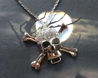 Halloween Jewelry, Halloween Necklace, Halloween Pendant, Skull Pendant, Skull Necklace, Halloween Gift, Gift For Her