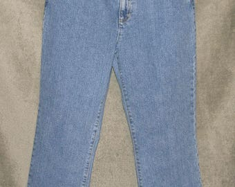 Vintage Jones New York Stretch Jeans Womens Size 8P 30x26 Classic Rise Waist Mom Jeans 1990's Excellent Conditon