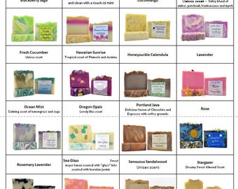 10 Bars of SOAP |Handcrafted Soap | Artisan Soap | Handmade Soap | Variety Pack Soap | Your choice