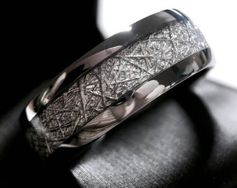 Meteorite ring Etsy