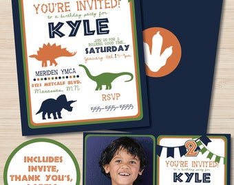 Dinosaur Invitation - Dinosaur Birthday Invitation - Dinosaur Birthday Party - Dinosaur Birthday Party - Dinosaur Decorations - Printable