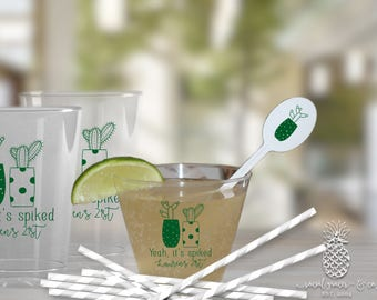 Cactus Party   Disposable Clear Cups   Birthdays, Weddings, Engagement Bridal Parties and Baby Showers   social graces and Co