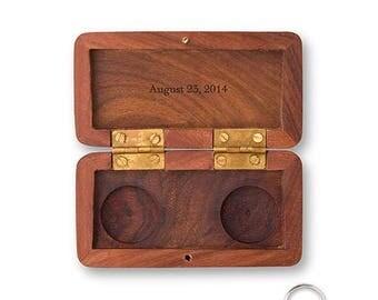 Personalised Wooden Wedding Ring Box, Wedding Keepsake, Ring Bearer, Garland Design