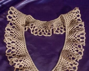 """Women's collar """"Dessert"""": Crochet Collar, Handmade Collar, Lace Collar, Vintage Collar, Open-work collar, Neck Accessory"""