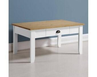Ludlow Coffee Table in White/Oak