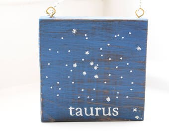 Taurus Constellation Wall Plaque