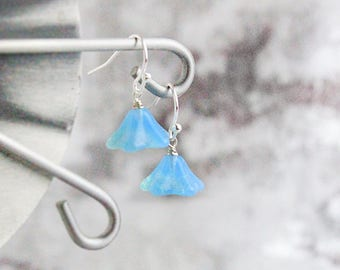 bohemian earrings dangle blue earrings light blue jewelry summer earrings romantic gift wife gift/idea/for/her opal earrings gifts пя56