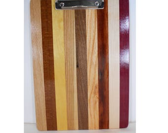 Wooden Clipboard, Wood Note Pad, Unique Office Gift (#220)