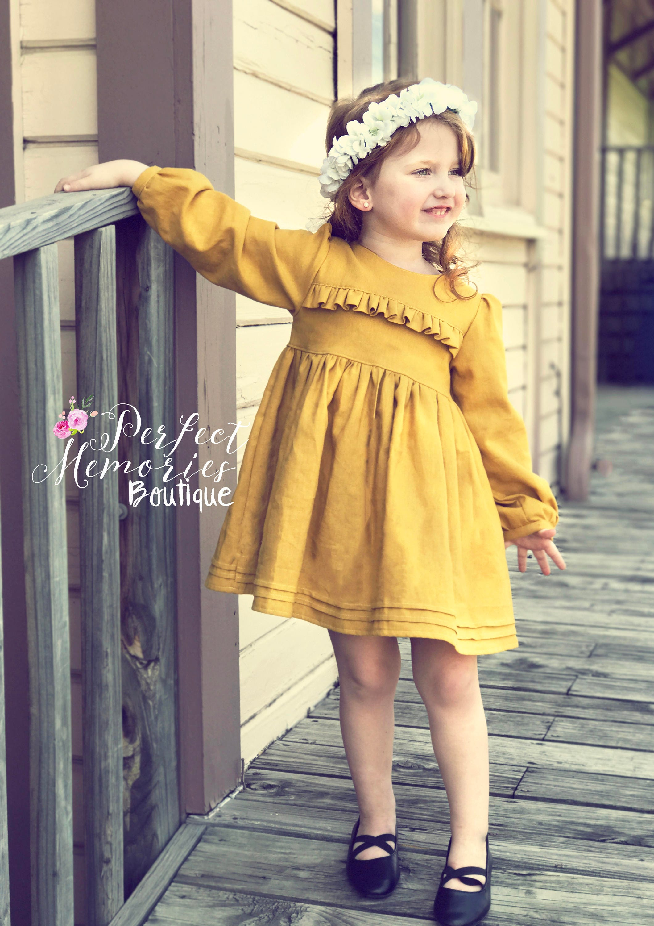 Vintage Style Dress Fall Dress Baby Girl Dress