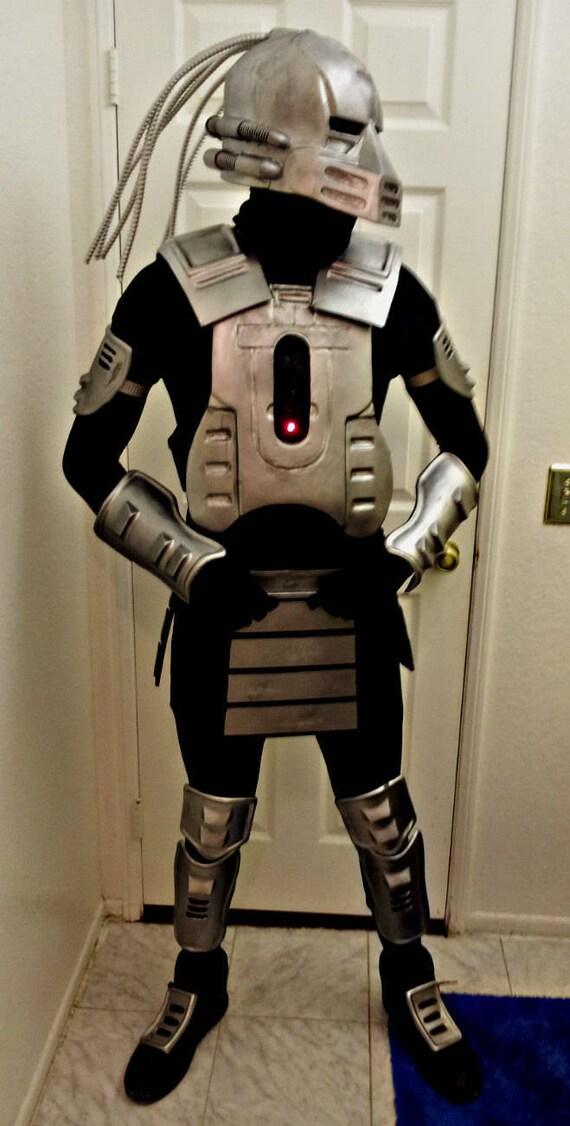 cyborg smoke mortal kombat cosplay costume cyber cyrax - Mortal Kombat Smoke Halloween Costume