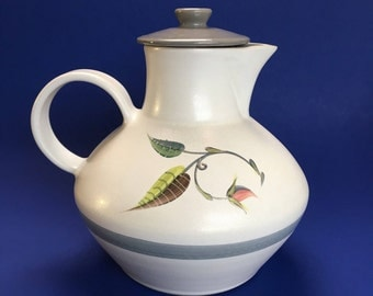 Large Denby Spring Stoneware Teapot England signed