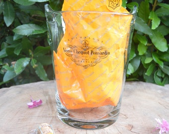 Rare Exceptional Vintage French Crystal Champagne VEUVE CLICQUOT PONSARDIN Reims France Champagne Bucket