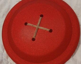Glitter Frisbee Buttons