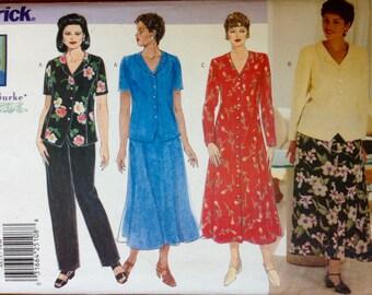 Butterick 4875 - Wardrobe Separates Dress, Top, Skirt or Pants Delta Burke Design - Size 14 16 18
