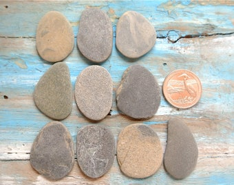 Flat beach stones etsy for Flat stones for crafts