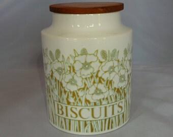 Vintage storage - Hornsea Biscuits storage jar . Retro kitchen storage container