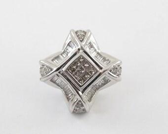 Men's 14K White Gold Single Diamond Hip Hop Stud Earring 0.50 carat