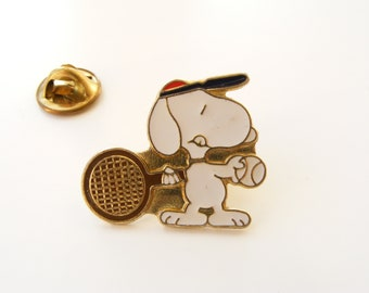 Vintage Snoopy pin from 1990s, Peanuts gift, collectibles, lapel pin back, button, badge
