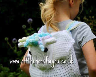 Raindrop the Unicorn Backpack Bag PATTERN