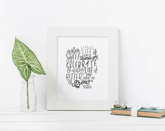 Hand Lettered Print | Life is Sweet