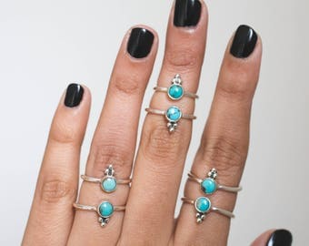 Turquoise Ring * Turquoise Jewelry * Genuine Turquoise * Stackable Rings * Turquoise Rings * Gemstone Rings * Delicate Ring * Dainty Rings