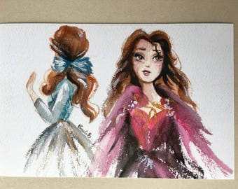Belle Blue and Pink PRINT