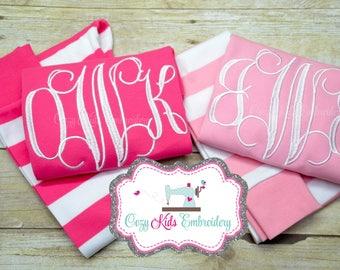 Valentine's Day pajamas, Valentine's Day Pj, Monogram pajamas, girl child kid baby toddler infant applique embroidery monogram name