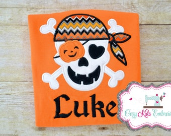 Halloween Shirt, Boy's Halloween Shirt, Boys Halloween Shirt, Personalized Shirt, Skull Shirt, Fall Shirt, Pumpking Patch Shirt, Embroidery
