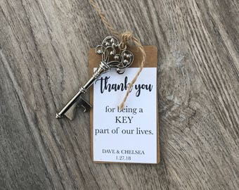 Key bottle opener favors - wedding favors - guest favors