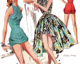 1956 Swim or Play Suit & Skirt E-PATTERN set A by EvaDress