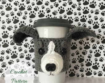 Miniature Greyhound -  Crochet Dog Pattern - Dog Crochet Pattern - Crochet Pattern Dog - Amigurumi Dog - Mug Cozy Pattern - Crochet Patterns