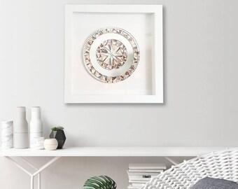 "Rose Gold Wall Art, Framed Art, Home Decor, Shadow Box Frame, Abstract Art, Birthday Gift, Original, Art, ""Precious Rose Gold"" – 42cm"