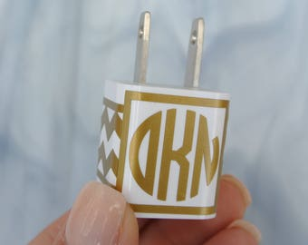 iPhone Charger Decal - Monogram Charger Decal - iPhone Monogram Wrap - Charger Decal - Monogram iPhone Charger Decal - Chevron Charger Decal
