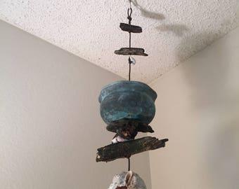 Handmade wind chime/ bird feeder