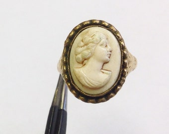 Vintage cameo ring size O 1/2, 7.25.