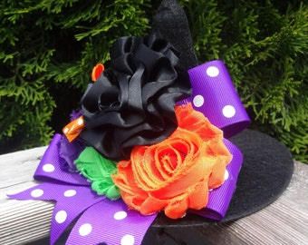 Mini Witch Hat, Baby Witch Hat, Witch Hat Photoprop, Halloween Photoprop, Toddler Witch Hat, Small Witch Hat, Halloween Costume Witch Hat