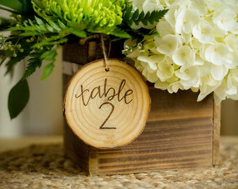 Wedding Table Markers