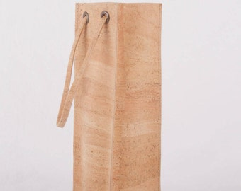 Cork wine carrier.  Cork wine bag.  A great gift