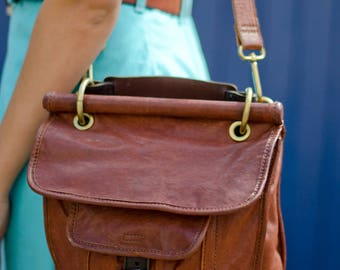 Vintage Fossil leather shoulder bag