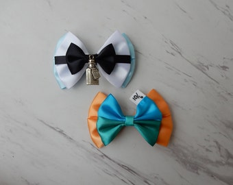 Alice in Wonderland Bows, Alice Bow, Mad Hatter Bow