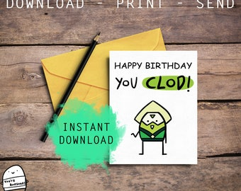 Cute Steven Universe, Cute Peridot, Best BDay Card, Cool Card, Geeky Card, Funny Card, Nerdy Card, For Her, For Him, Digital Download
