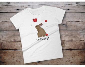 Easter shirt, easter bunny shirt, easter bunny, bunny shirt for women, easter tee shirts, bunny tshirt womens, be hoppy, hoppy easter, hoppy