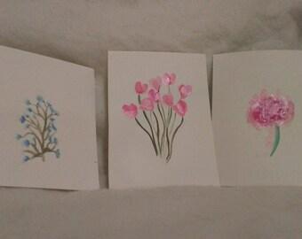 Set of Three: Flowers