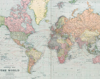 World map digital etsy world map printable digital download 1922 vintage world map old world map digital gumiabroncs Image collections