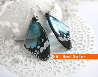 Baby blue earrings Something blue Butterfly earrings Resin jewelry Silver jewelry Bohemian earrings for women Mother day gift Animal lover