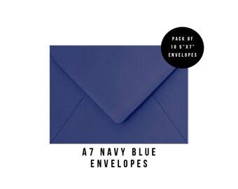 5x7 Navy Blue Envelopes