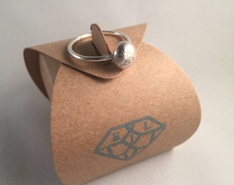 Sterling Eco Silver Pebble Ring - Eco Jewellery, Eco Silver Ring